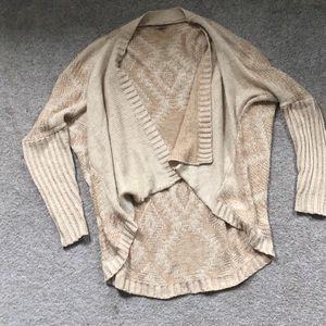 Cream/tan open batwing sweater